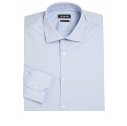 Saks Fifth Avenue Collection - Trim Fit Dress Shirt Cotton Shirt