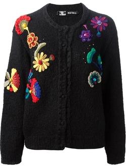 Kansai Yamamoto Vintage - Crochet Appliqué Cardigan