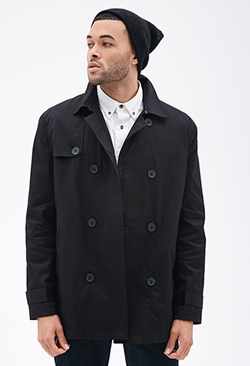 Forever 21 - Double-Breasted Trench Coat