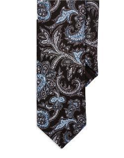 Black Brown 1826  - Paisley Tie