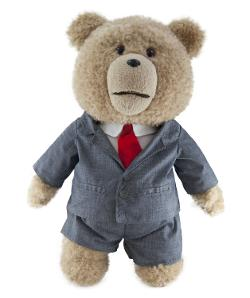 Ted - Ted in Suit Plush Toy with Sound