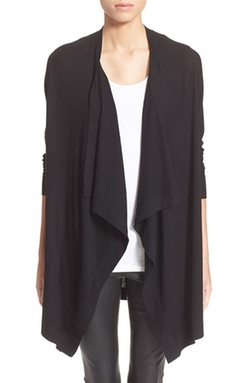 Vince - Drape Front Wool Cardigan