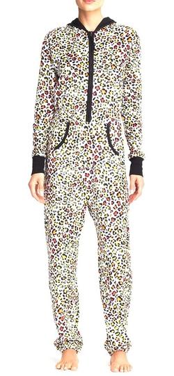 Aqua - Leopard Print Onesie Pajamas