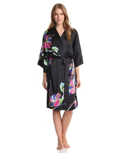 Samantha Chang - Hand Painted Silk Kimono Robe