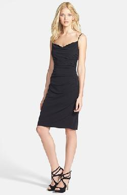 Laundry by Shelli Segal  - Spaghetti Strap Ruched Jersey Dress
