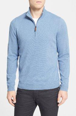 John W. Nordstrom - Half Zip Cashmere Sweater