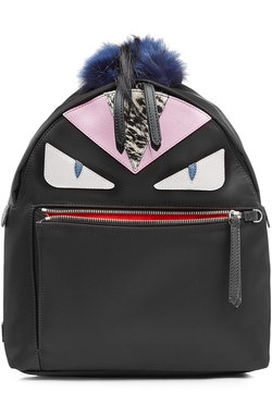 Fendi - Backpack with Leather and Fur