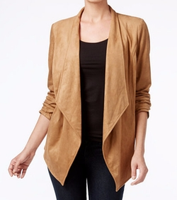 JM Collection - Open-Front Draped Jacket