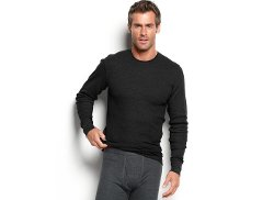 Alfani - Waffle Knit Thermal Long Sleeve T Shirt
