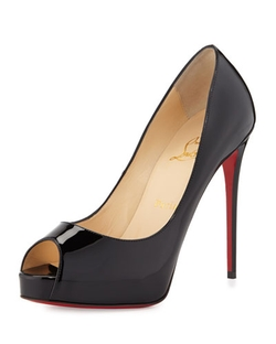 Christian Louboutin - Prive Peep-Toe Red Sole Pumps