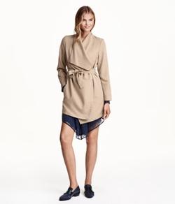 H&M - Draped Coat