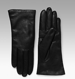 Saks Fifth Avenue Collection - Cashmere-Lined Leather Gloves