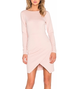 1 State - Ponte Wrap Front Bodycon Dress