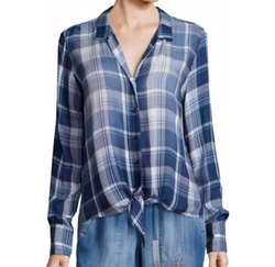 Bella Dahl  - Tie-Front Plaid Shirt