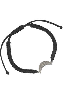 Iam By Ileana Makri - Moon Silver Diamond Bracelet