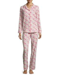 Bedhead - Lifesaver-Printed Classic Pajama Set, Pink