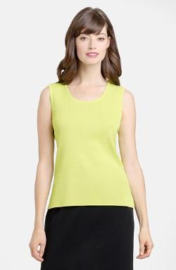 Ming Wang  - Scoop Neck Knit Tank Top