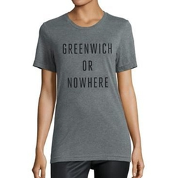 Knowlita  - Greenwich Or Nowhere Cotton Graphic Tee