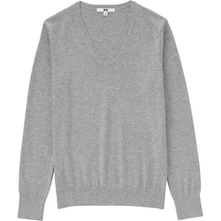 Uniqlo - Cotton Cashmere V-Neck Sweater