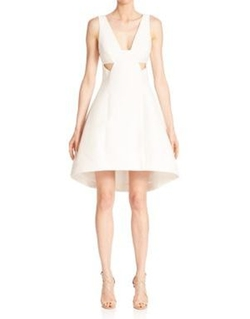 Halston Heritage - Sleeveless Silk Faille Dress
