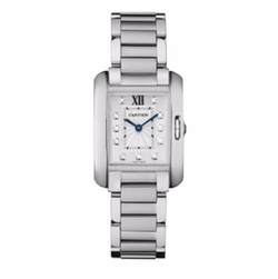 Cartier  - Tank Anglaise Diamond & Stainless Steel Bracelet Watch