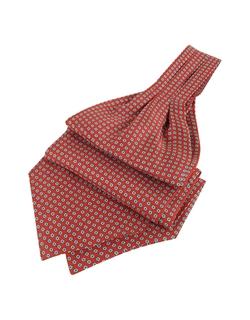 Forzieri - Daisy Print Pure Silk Ascot Tie