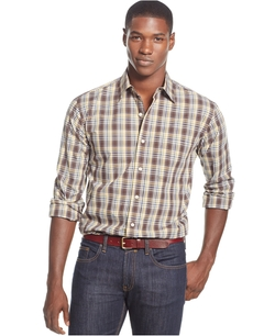 Club Room - Plaid Long-Sleeve Shirt