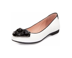 Taryn Rose - Berndt Flower Leather Ballerina Flat Shoes