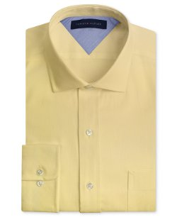 Tommy Hilfiger  - Slim-Fit Textured Solid Dress Shirt