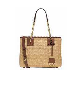 Michael Kors  - Straw Rosalie Medium East West Tote Bag