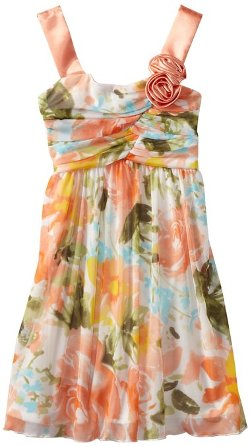 Rare Editions  - Floral Print Dress