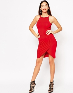 Asos  - Asymmetric Body Conscious Dress