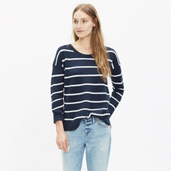 Madewell - Stripe Chronicle Texture Pullover Sweater