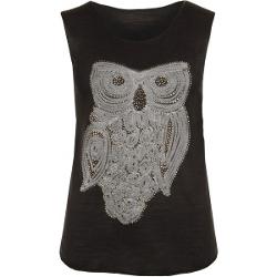 Wearall.com - Luciana Owl Print Sleeveless Vest