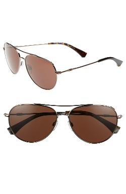 Emporio Armani - 57mm Aviator Sunglasses