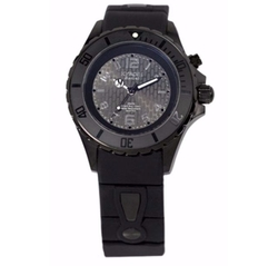 Kyboe! - Silicone & Blackened Stainless Steel Strap Watch