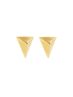 Jennifer Fisher - Medium Triangles Earrings - Yellow Gold