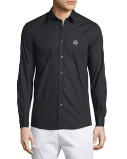 Moschino Uomo - Long-Sleeve Button-Front Dress Shirt