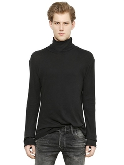 Balmain - Turtleneck Ribbed Cotton T-Shirt