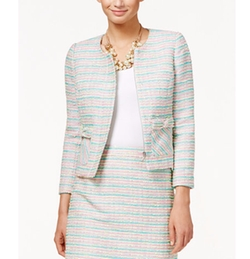 CeCe - Bow-Detail Tweed Blazer