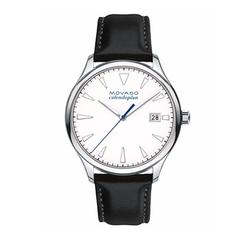 Movado - Swiss Heritage Series Calendoplan Leather Strap Watch
