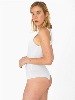 American Apparel - Cotton Spandex Sleeveless Thong Bodysuit