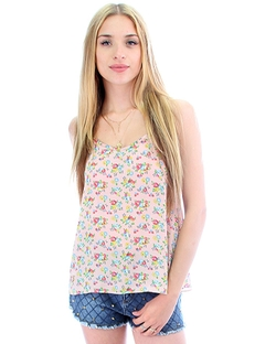 Fashion Club Usa - More Flower To You Tank Top