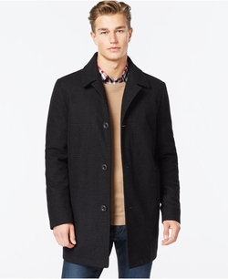 Kenneth Cole - Wool-Blend Tweed Walker Coat