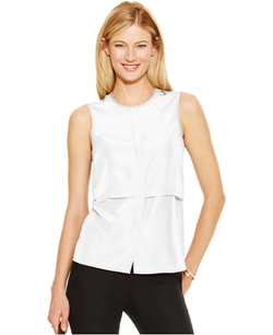 Michael Michael Kors - Sleeveless Zip-Trim Blouse