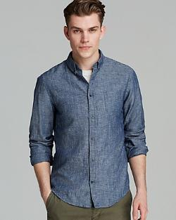 Vince - Cotton Linen Chambray Sport Shirt