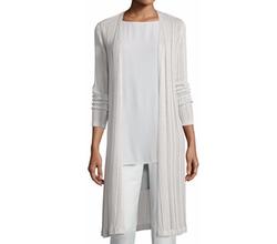 Eileen Fisher - Linear Knit Maxi Cardigan