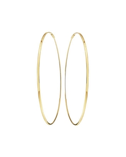 Lana - Oval Magic Hoop Earrings
