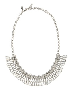 Greenbeads by Emily & Ashley  - Silvertone Short Fringe Necklace
