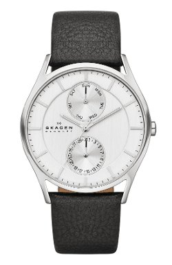 Skagen - Holst Multifunction Leather Strap Watch